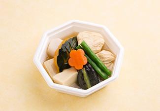 彩り野菜と湯葉・高野豆腐